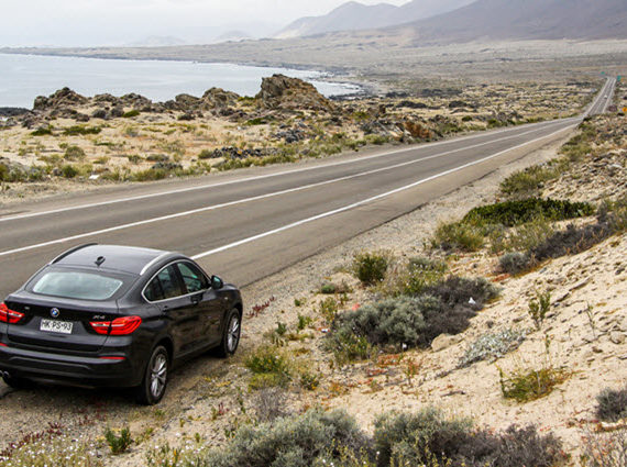 BMW F26 X4 on Roadside